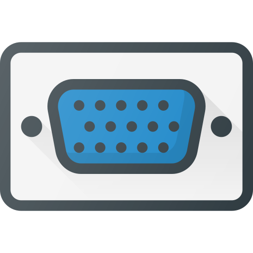 Vga, Port, Cable, Plug, Video Icon Free Of Free Set Color Outline