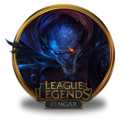 Rengar Night Hunter Icon League Of Legends Gold Border Iconset