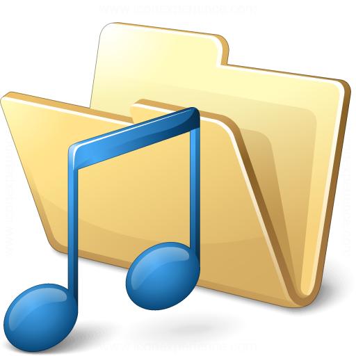Iconexperience V Collection Folder Music Icon