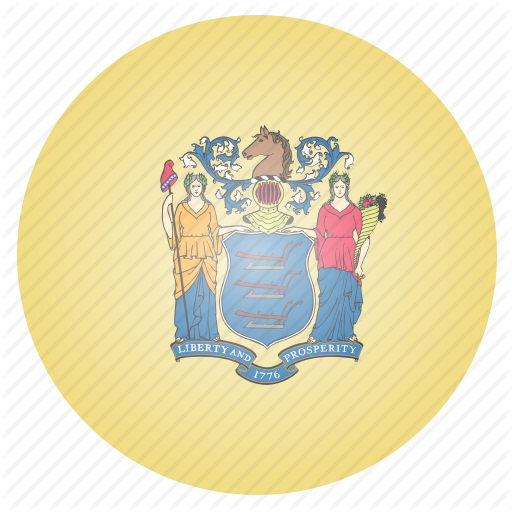 Flag, Jersey, New, State, Us Icon