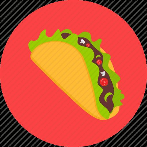 Mexican, Mex Shawarma, Taco, Tacos, Tortilla Icon