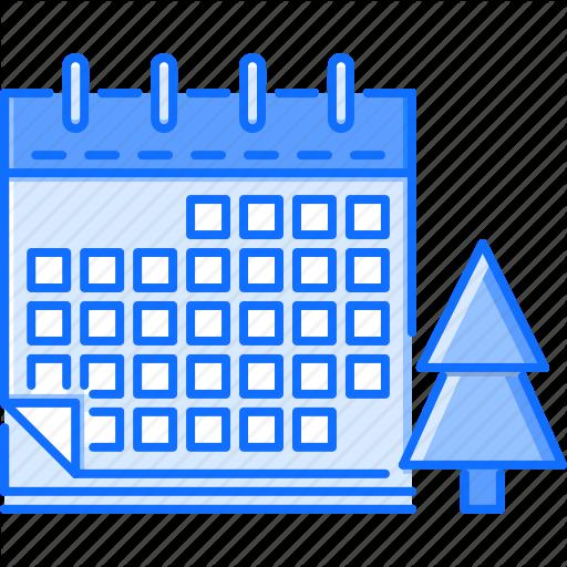 Calendar, Christmas, Holiday, New, Tree, Winter, Year Icon