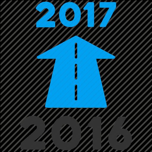 Year, Ahead Arrow, Forward, Future, New Year, Next, Road Icon