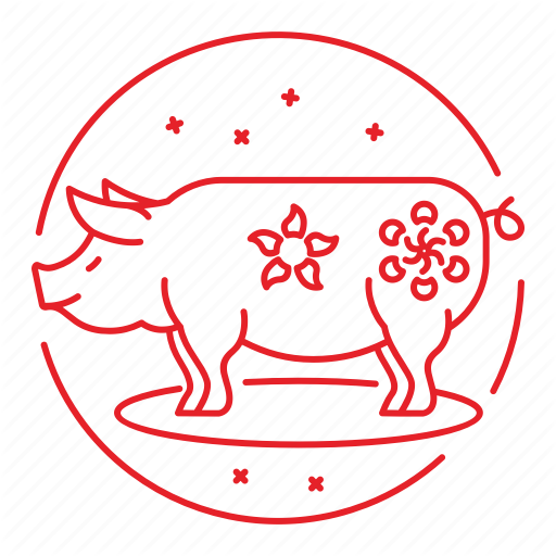 Chinese, Festival, New, Pig, Year Icon
