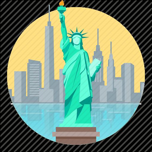 City, Liberty, New, New York, Skyline, Statue Of Liberty, York Icon