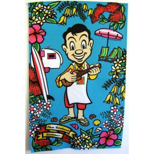 Summer Ukulele Mr Four Square Tea Towel Kiwiana