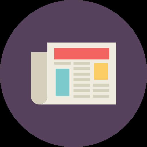 Newspaper, Document, Text, News Icon Free Of Flat Retro