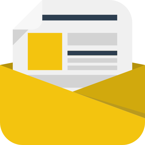 Newsletter Icon Square Iconset Flat