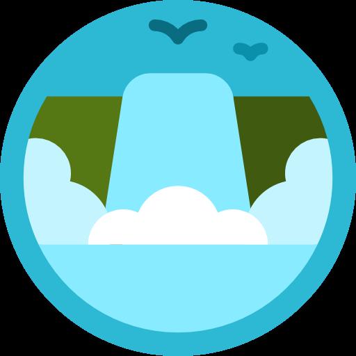 Cascade, Water, Nature, River, Falls, Cataract Icon