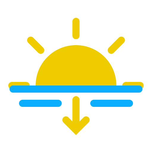 Weather, Sunset Icon Free Of The Weather Is Nice Today