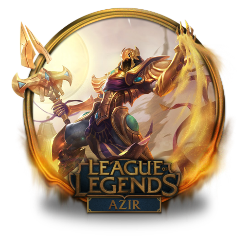 Azir Icon League Of Legends Gold Border Iconset