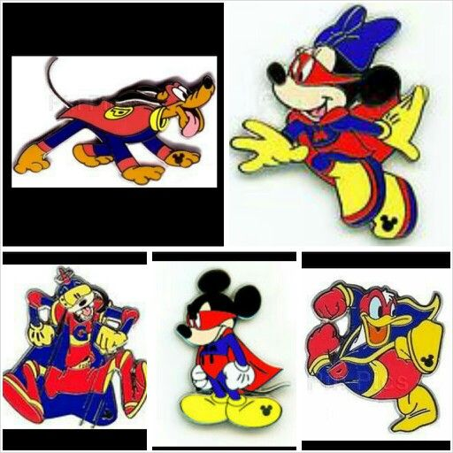 Super Hero Hidden Mickey Pins Hidden Mickey Pin Sets