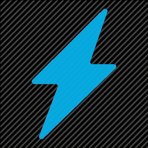 Battery Blue Thunder Level Lightning Power Logo Image