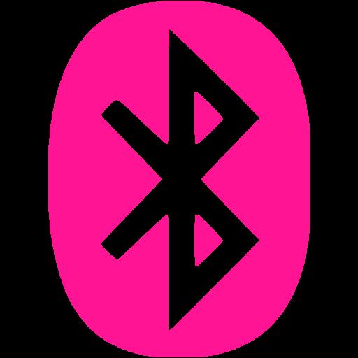 Deep Pink Bluetooth Icon