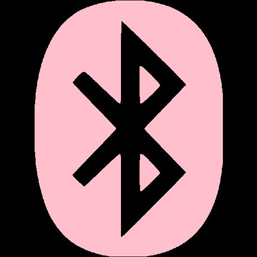 Pink Bluetooth Icon
