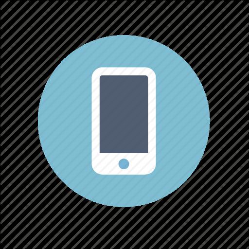 Circle Mobile Phone Icon Logo Image