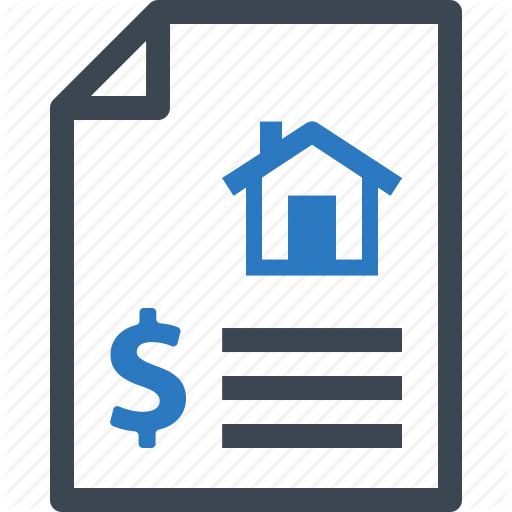 Home Insurance, Insurance Policy, Mortgage Loan, Rent Contract Icon