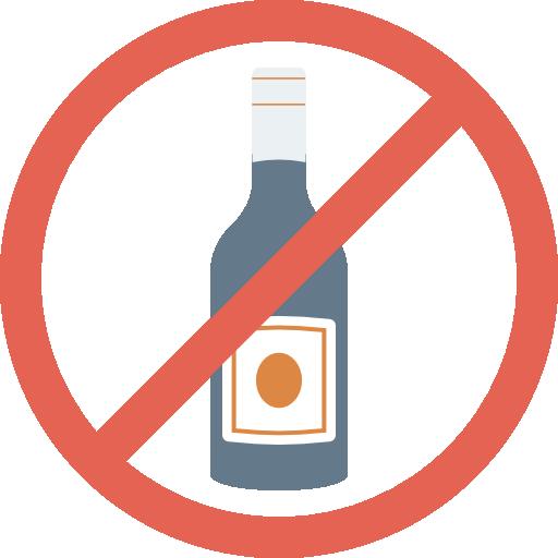 No Alcohol Icon Medical And Health Dinosoftlabs