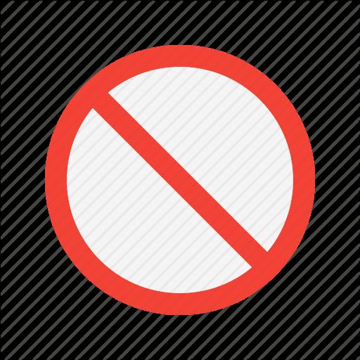 Ban, Cancel, No Icon