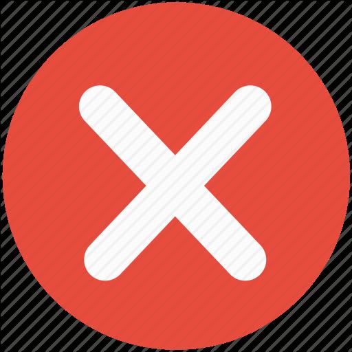 Cancel, Close, Delete, No, Not, Remove, System Icon