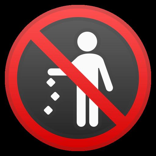 No, Littering Icon Free Of Noto Emoji Symbols