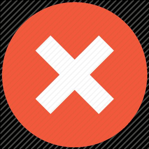 Cancel, Close, Delete, No, Remove, Stop, X Cross Icon