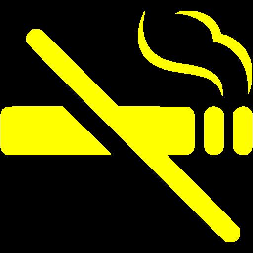 Yellow No Smoking Icon