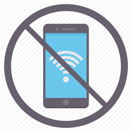 Connection, Mobile, No Internet, No Wifi, Phone, Prohibited Icon