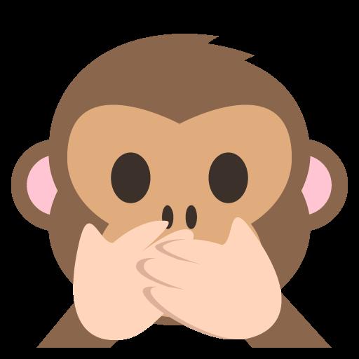 Speak No Evil Monkey Emoji Vector Icon Free Download Vector
