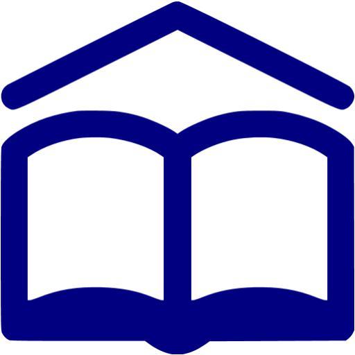 Navy Blue School Icon