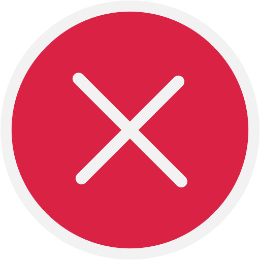 Out, Sign Out, Close, No, Deny, X, Delete Icon
