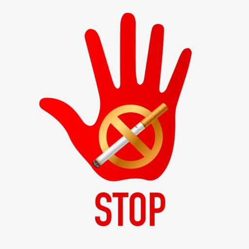 Quit Smoking, Red, Hand Painted, Stop Png Image And Clipart