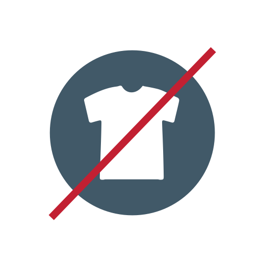 Clothing, Recycling, Collection, Trash, No Clothing Icon