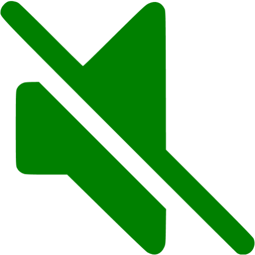 Green Mute Icon