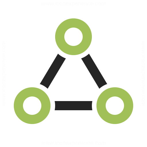 Graph Triangle Icon Iconexperience