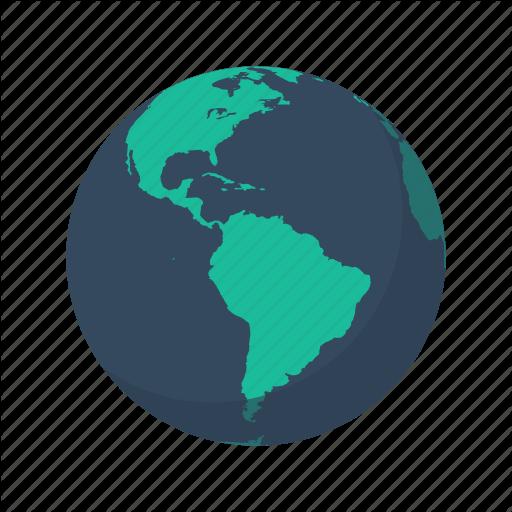 America, Antarctica, Earth, Globe, North, Planet, South Icon