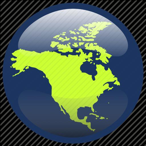 Continent, Map, North America, Northamerica, World Icon