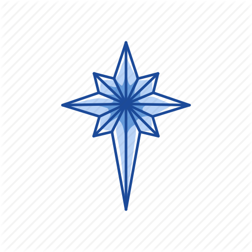Christmas Tree, Light, North Star, Star Icon