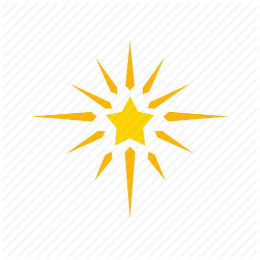 Glow, Light, North Star, Star Icon