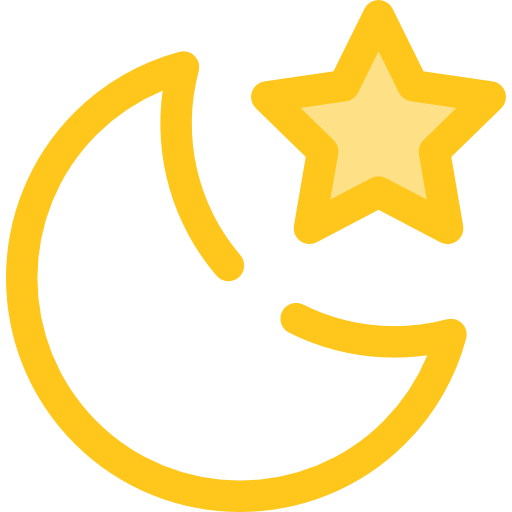 Star, Moon, Night, Nature, Landscape Icon