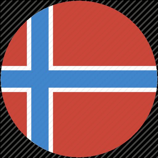 Circle, Flag, Norway Icon