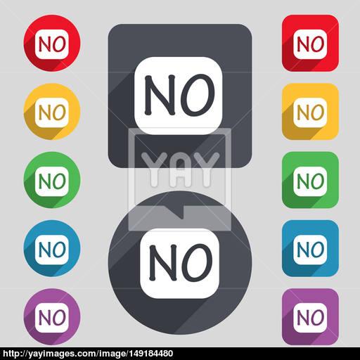 Norwegian Language Sign Icon No Norway Translation Symbol Set