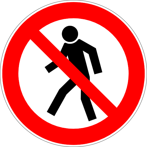 Free Icons No Pedestrians Allowed Sign