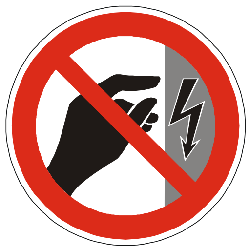 Danger Sign, Do Not Touch Power Icon