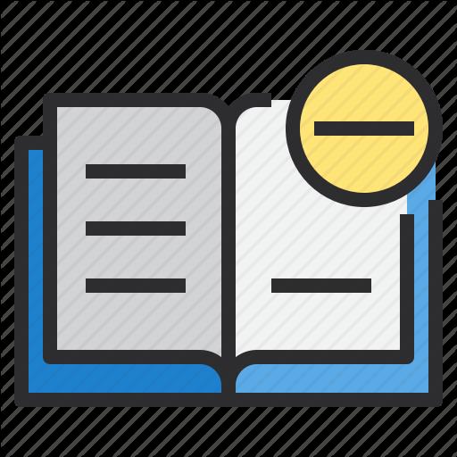 Agenda, Book, Business, Delete, Notebook Icon