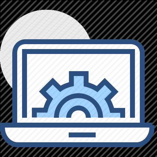 Cogwheel, Computer, Engineering, Gear, It, Notebook Icon