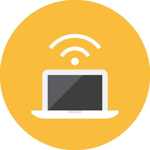Laptop Signal Icon Kameleon Iconset Webalys