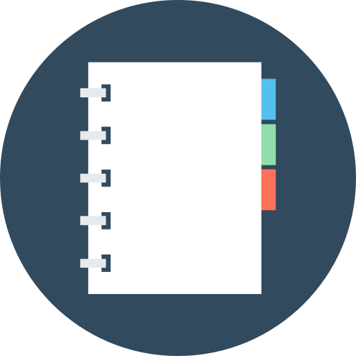 Notebook, Notebook With Separators, Organized Notebook Icon