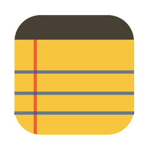Notepad Symbol Icon