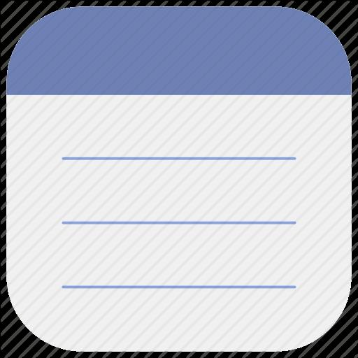 App, List, Memo, Notepad, Notes, Tasks Icon